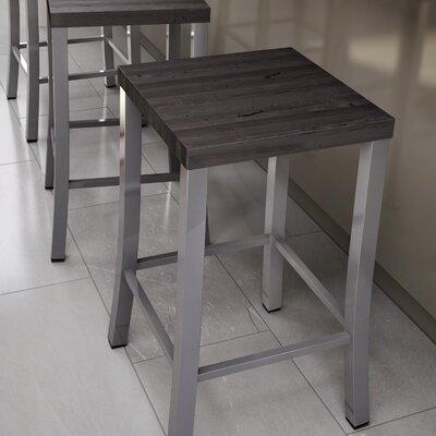 Athanas 24 inch Bar Stool Finish: Glossy Grey/Medium Dark Gray