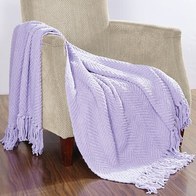 Darr Knitted Tweed Throw Blanket Color: Lavender