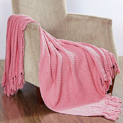 Darr Knitted Tweed Throw Blanket Color: Candy Pink