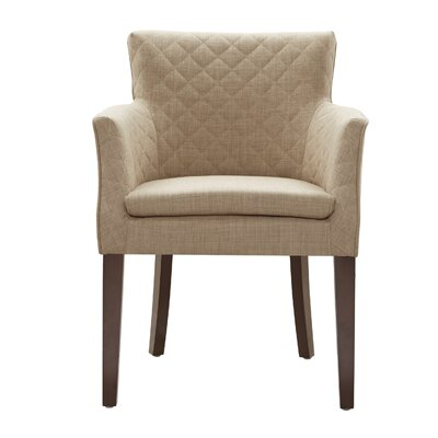 Dann Arm Chair Upholstery: Cream / Espresso