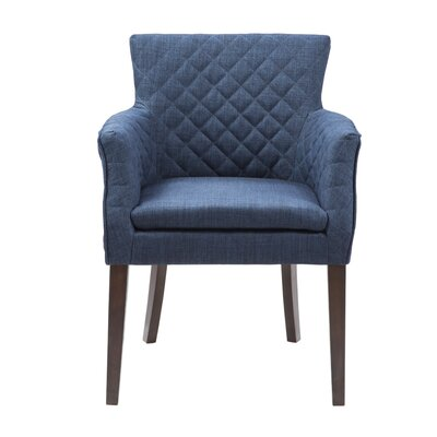 Dann Arm Chair Upholstery: Navy / Espresso