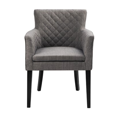Dann Arm Chair Upholstery: Charcoal / Black Noir