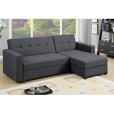 Danos Reversible Sleeper Sectional Upholstery: Gray
