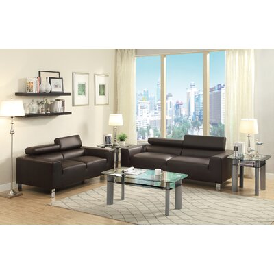 Montvale Sofa and Loveseat Set Upholstery: Espresso
