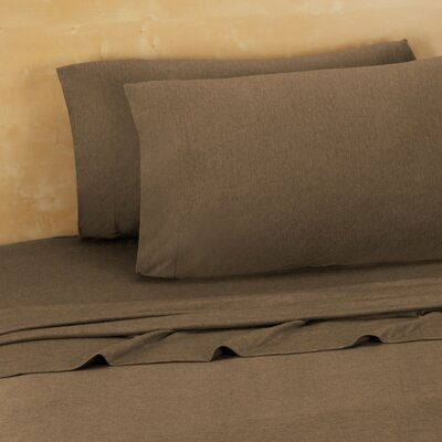 Darrington Extra Soft Jersey Sheet Set Size: Twin/Twin XL, Color: Chocolate