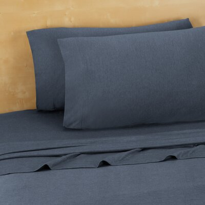 Darrington Extra Soft Jersey Sheet Set Size: Queen, Color: Denim Blue
