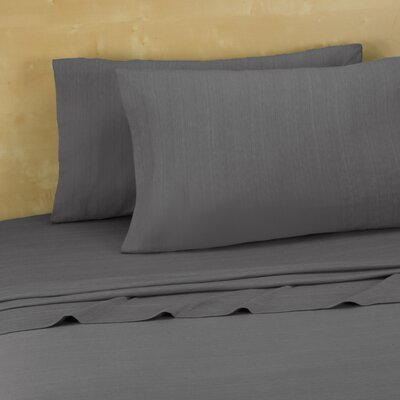 Darrington Extra Soft Jersey Sheet Set Size: Full, Color: Heather Grey