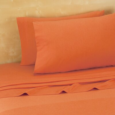 Darrington Extra Soft Jersey Sheet Set Size: Full, Color: Pumpkin