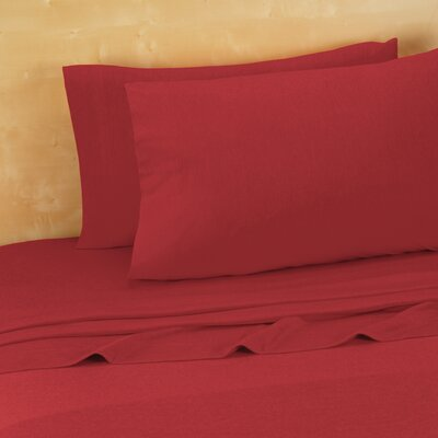 Darrington Extra Soft Jersey Sheet Set Size: King, Color: Tango Red