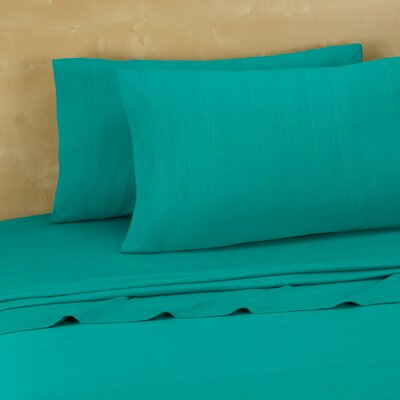 Darrington Extra Soft Jersey Sheet Set Size: King, Color: Teal