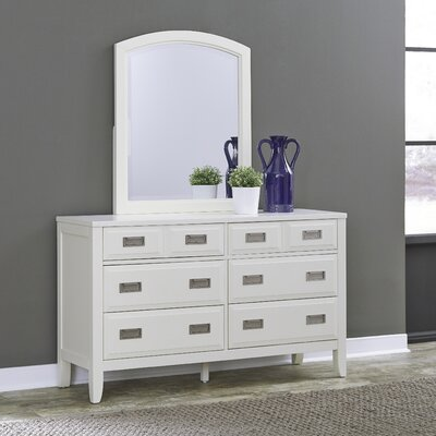Darrow 6 Drawer Dresser with Mirror