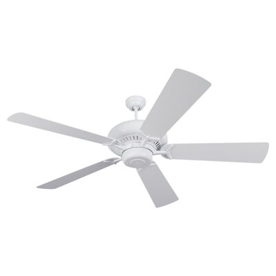 60 Anais 5 Blade Ceiling Fan Finish: White with White Blades