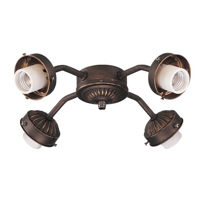 Desouza Wide Angle 4-Light Fitter Finish: Roman Bronze