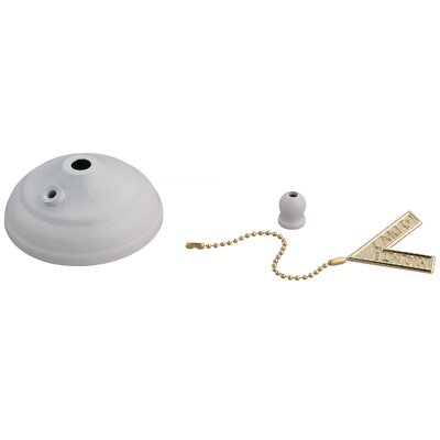 Desouza Ceiling Fan Pull Chain Bowl Cap Finish: White