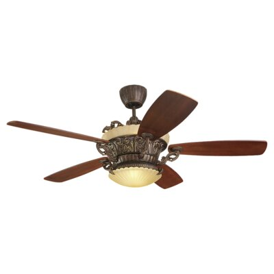 56 Beaton 5 Blade Ceiling Fan with Remote Color: Tuscan Bronze