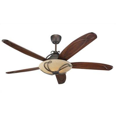 66 Desouza 5 Blade Ceiling Fan with Remote Finish: Roman Bronze