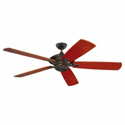 60 Anais 5 Blade Outdoor Ceiling Fan Finish: Roman Bronze with American Walnut Blades