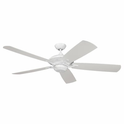 60 Anais 5 Blade Outdoor Ceiling Fan Finish: White with White Blades