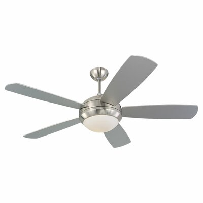 52 Desouza 5 Blade Ceiling Fan Finish: Brushed Steel