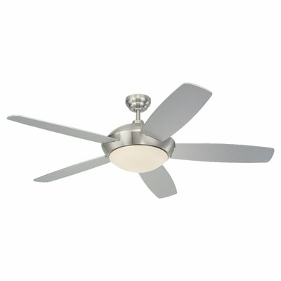 52 Desouza 5 Blade Ceiling Fan with Wall Remote Finish: Brushed Steel