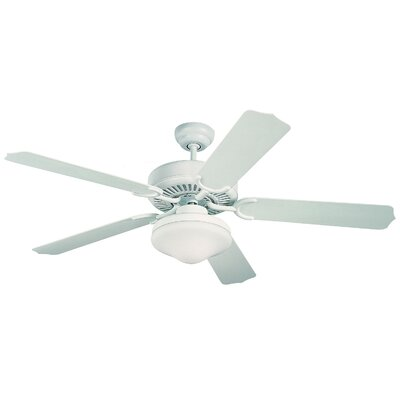 52 Beaton 5 Blade Outdoor Ceiling Fan Finish: White