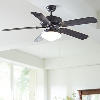 52 Beaton 5 Blade Outdoor Ceiling Fan Finish: Roman Bronze