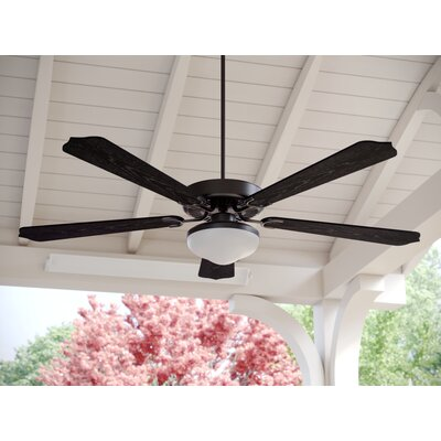 52 Beaton 5 Blade Outdoor Ceiling Fan Color: Matte Black