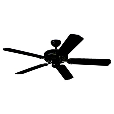 52 Desouza 5 Blade Ceiling Fan Finish: Black with Black Blades