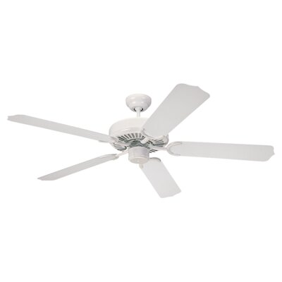 52 Desouza 5 Blade Ceiling Fan Finish: White with White Blades