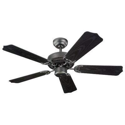 42 Desouza II 5 Blade Outdoor Ceiling Fan Finish: Matte Black with Black Baldes