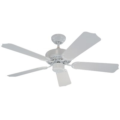 42 Desouza II 5 Blade Outdoor Ceiling Fan Finish: White with White Blades