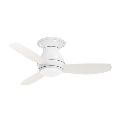 44 Desouza 3 Blade Ceiling Fan with Remote Finish: White
