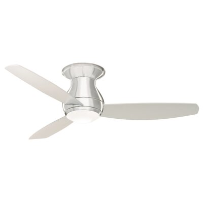 52 Robledo 3 Blade Ceiling Fan with Remote Finish: Brushed Steel