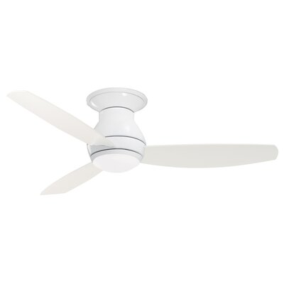 52 Robledo 3 Blade Ceiling Fan with Remote Finish: White