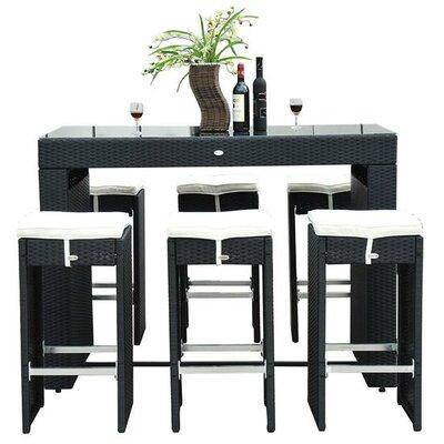 Haddox 7 Piece Bar Set with Cushions