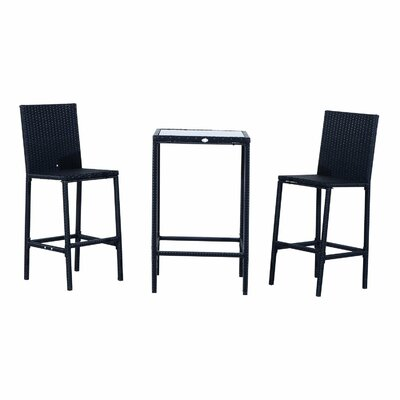 Haddox 3 Piece Bar Bar Set