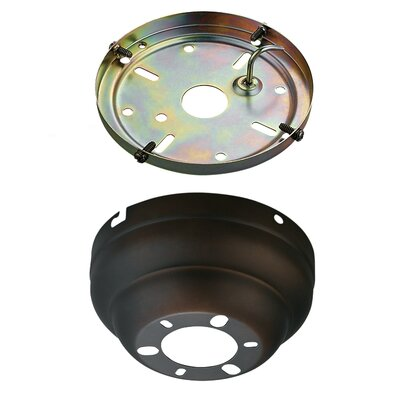 Anais Flush Mount Canopy Adapter Kit for Ceiling Fans Finish: Roman Bronze