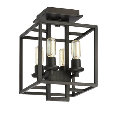 Borkowski 4-Light Semi-Flush Mount Finish: Aged Bronze
