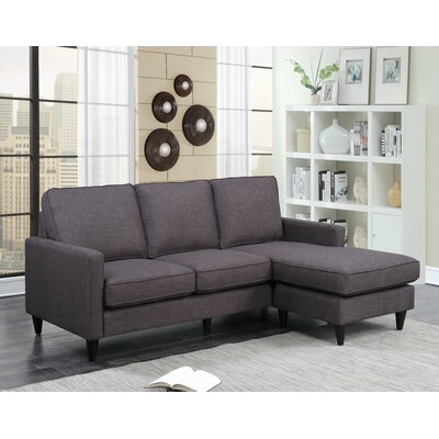 Hambrick Reversible Sectional Upholstery: Charcoal