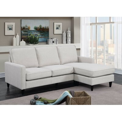 Bornstein Reversible Chaise Sectional Upholstery: Taupe