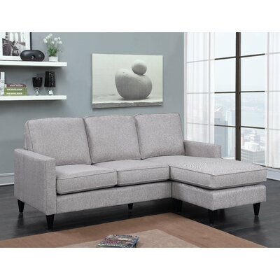 Hambrick Reversible Sectional Upholstery: Gray