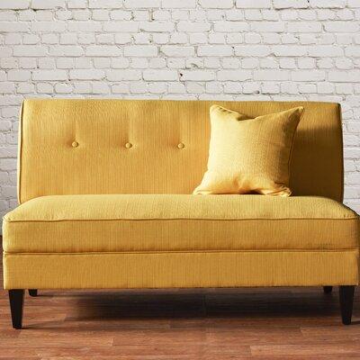 Perseus Loveseat Upholstery: Mustard Yellow Linen