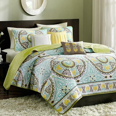 Borrelli 6 Piece Coverlet Set Size: Full/Queen