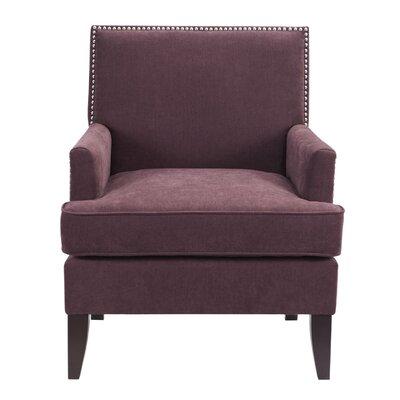 Borst Track Armchair Upholstery: Purple