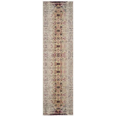Amico Ivory / Pink Area Rug Rug Size: Runner 22 x 6