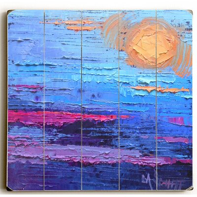 'Moon Over Miami' Drawing Print on Wood Size: 13