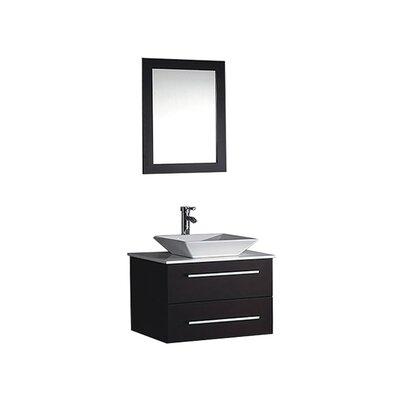 Bosarge 36 Single Sink Bathroom Vanity Set with Mirror Base Finish: Espresso