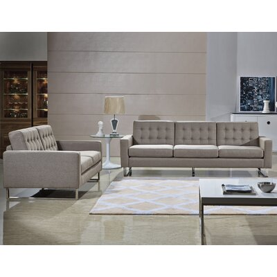 Bosch 2 Piece Living Room Set Upholstery: Cappuccino