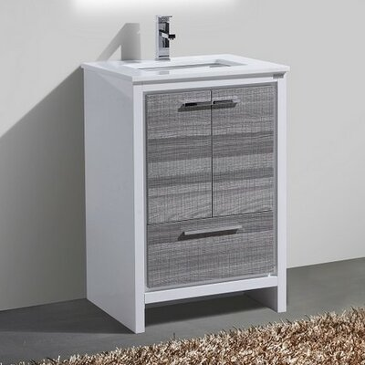 Bosley 24 Modern Bathroom Vanity Base Finish: Ash Gray
