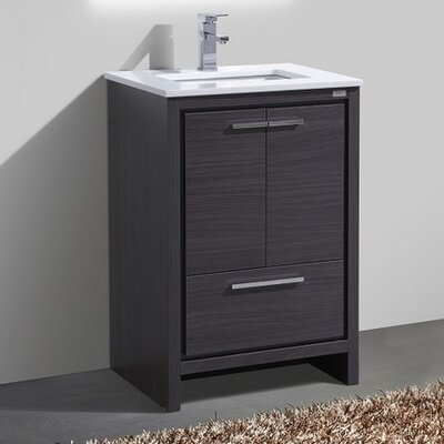 Bosley 24 Modern Bathroom Vanity Base Finish: Gray Oak